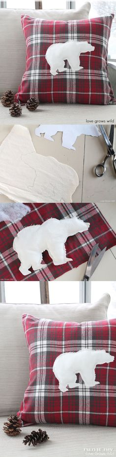 Use thrift store flannel shirts. Appliqué with a variety of animals: polar bear, moose, reindeer.