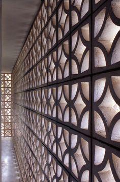 Patterned concrete block walls... a mid-century staple