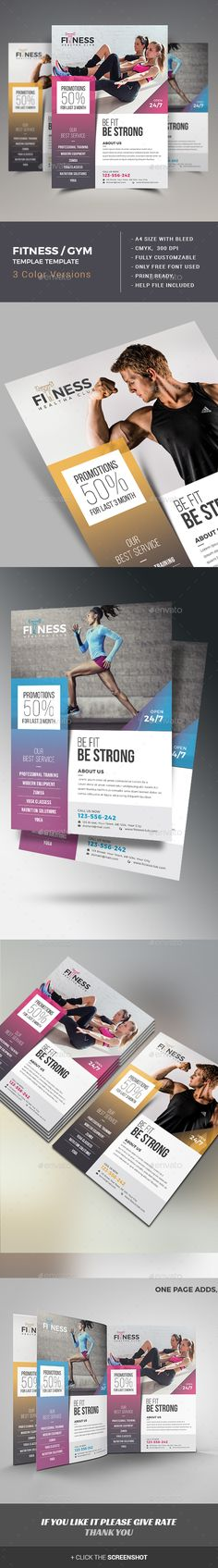 #Fitness / GYM #Flyer - #Sports Events Download here: https://graphicriver.net/item/fitness-gym-flyer/15413270?ref=alena994