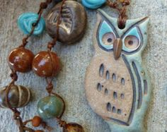 RESERVED Honey Love Ceramic Bee Heart Pendant in by GraceElements