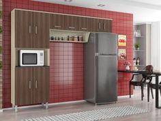 Compre no MagazineBrasilcompleto  Cozinha Compacta Poliman Móveis Franciele - 9 Portas