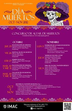 Cartel - Día de Muertos enTijuana (México) - Concurso de altar de muertos