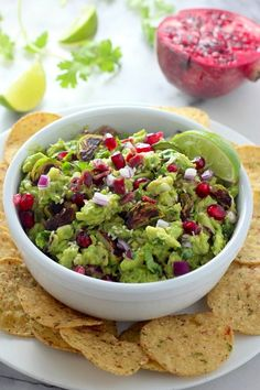 Charred Brussels Sprout, Bacon, and Toasted Sesame Seed Guacamole - Baker by Nature Vegetarian Recipes, Snack Recipes, Snacks, Diabetic Recipes, Cooking Recipes, Pomegranate Seeds, Great Recipes, Favorite Recipes, Hors D'oeuvres
