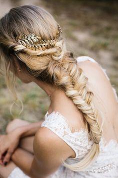 Noiva penteado com trança