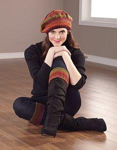 Knit this scarf using Mary Maxim Milan yarn.