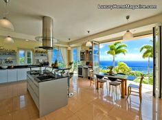 I Imagine the view and the breeze would make slaving away in the kitchen a lot more bearable!