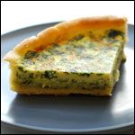Quiche with Spinach, Mushrooms and Cheese - add a garlic clove and a pinch of cayenne in the filling ~mayK