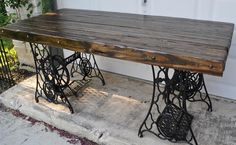 Upcycled singer dining table