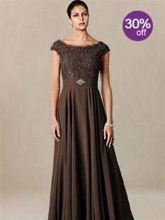 plus size mother of the bride dresses_Espresso