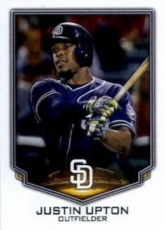 Justin Upton Justin Upton, The Outfield, San Diego Padres, Baseball Cards