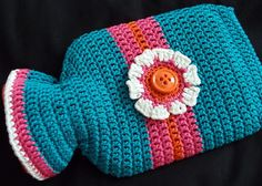 Hot Water Bottle Cover Annie's Crochet, Crochet Gifts, Crochet Home, Water Bottle Covers, Crochet Kitchen, Bottle Holders, Hot Pads, Hand Warmers, Crochet Accessories