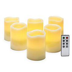 "Set of 6 Ivory Melted Edge 4"" Flameless Wax Pillar Candle... http://www.amazon.com/dp/B01B6QQ4ZQ/ref=cm_sw_r_pi_dp_ag8ixb1GT8H6K"