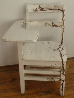 Upcycled Vintage School Desk Chair by karaUstudio on Etsy