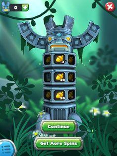 Forest Home | End Of Quest Rewards Spin| UI, HUD, User Interface, Game Art, GUI, iOS, Apps, Games, Grahic Desgin, Puzzle Game, Maze Games, Brain Games | www.girlvsgui.com