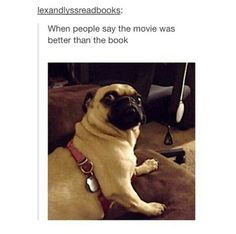 Okay this gives away that the person is either not reading the book, being sarcastic, or mentally ill!!!