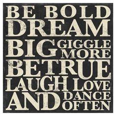 Be Bold Wall Art