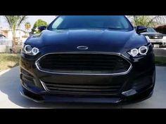 Halo Headlights - Ford Fusion My Custom 2013 Ford Fusion Pt. 2 - YouTube
