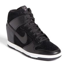 Nike Black Dunk Sky Hi Wedge Sneaker