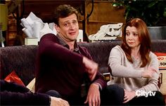 Marshall e Lily How I Met Your Mother, Ted Mosby, Best Tv Couples, Best Couple, Animiertes Gif, Animated Gif, Series Movies, Tv Series, Rockers
