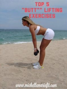 """Top 5 #Butt & Thigh #Exercises that """"Raise your Rear"""" . Must-Do Exercises for #Women."""