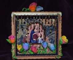 Madonna and Child with Paper Flowers von DawnsEye auf Etsy, $25.00