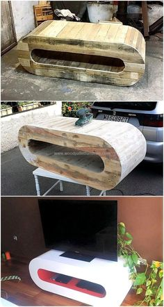 pallets made tv stand idea 1