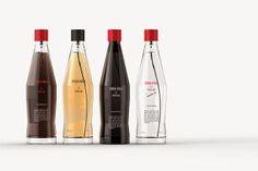 Packaging design for 'Coca Cola Le Parfum' fragrances by Wonchan Lee Cool Packaging, Food Packaging Design, Bottle Packaging, Beauty Packaging, Branding Design, Packaging Ideas, Product Packaging, Logo Design, Graphic Design