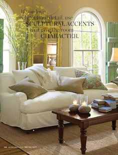 THIS!! pottery barn living room (comfy living room)