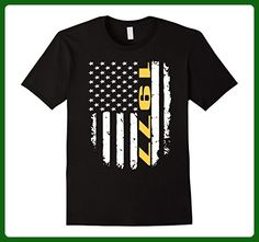 Mens 1977 American Flag 40th Birthday Gifts Funny T-Shirt Medium Black - Birthday shirts (*Amazon Partner-Link)