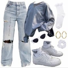 Cute Swag Outfits, Indie Outfits, Teen Fashion Outfits, Edgy Outfits, Retro Outfits, Girl Outfits, Mode Hipster, Vetement Fashion, Looks Street Style
