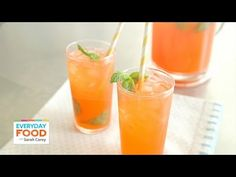 Strawberry-Mint Lemonade - Everyday Food with Sarah Carey