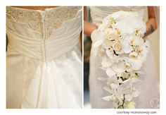 White cascading bouquet l Southern California wedding