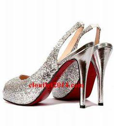 3d94cda09f8 Discount Christian Louboutin Glitter Peep toe Pumps Silver Glitter Party,  Silver Pumps, Glass Slipper