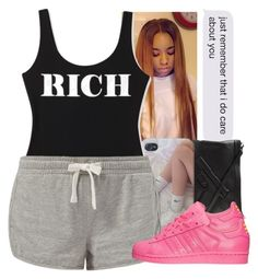 """""""rich #$$$$$"""" by lovebrii-xo ❤ liked on Polyvore featuring Vlieger & Vandam, Forever 21 and adidas"""