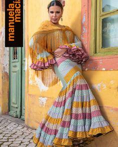 Colección 2019 Manuela Macías Moda Flamenca Flamenco Skirt, Tribal Dress, Wedding Costumes, Folk Costume, Body Modifications, Festival Wear, Traditional Dresses, Belly Dance, Dance Wear