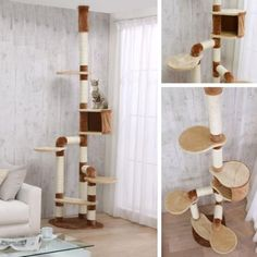 Catland Floor to Ceiling Cat Tree w/Cubby, Perches and Scratching Posts