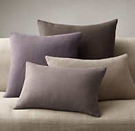 Belgian Linen Knife-Edge Pillow Collection - in Indigo Navy Pillows, Linen Pillows, Bed Pillows, Cushions, Purple Furniture, Diy Furniture, Relaxation Room, Restoration Hardware, Soft Furnishings