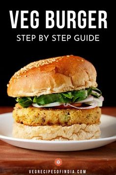 Have you ever wanted to try to make a veggie burger at home? Now you have no excuses not to! This step by step recipe teaches you how I make an Indian style veggie burger at home. This recipe can be made vegan by substituting the mayonnaise for vegan mayonnaise and sauteing the burger buns in oil instead of butter. This easy, healthy recipe yields about 4 patties.  #dinner #worldcuisine #Indianfusion #vegan #vegetarianrecipes Veg Recipes, Burger Recipes, Indian Food Recipes, Appetizer Recipes, Vegetarian Recipes, Cooking Recipes, Healthy Recipes, What's Cooking, Healthy Dinners