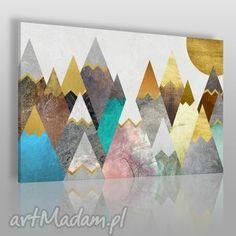 obrazy obraz na płótnie - góry pastele 120x80 cm 64401, góry, pastele, wierchy