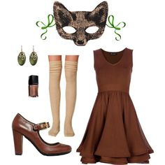 """Halloween Costume - Fox"" by jessica-boss on Polyvore"