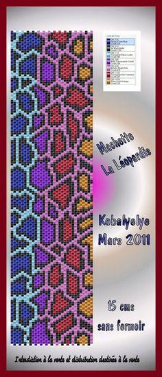 Live Laugh Love Chinese Symbol Bracelet Peyote Pattern Beading