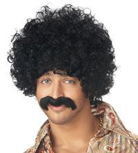 How You Doin' Black Wig and Moustache – Costume Wigs « Mutant Faces