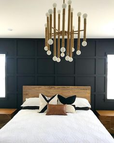 Go BOLD or go home, right! 😉🖤 Missed my post yesterday because. But here's the updated progress! Master Bedroom Design, Dream Bedroom, Home Bedroom, Modern Bedroom, Bedroom Decor, Bedroom Ideas, Interior Design Living Room, Living Room Decor, Accent Wall Bedroom