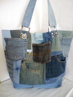 Extra large market denim bag, Trend 2019 Denim Backpack, Denim Bag, Blue Jean Purses, Vintage Denim, Vintage Leather, Denim Vests, Tote Bags Handmade, Denim Crafts, Recycle Jeans