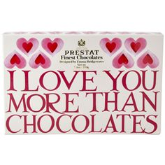 """Pink Hearts"" I Love you More than Chocolates Box of #Chocolates at Emma Bridgewaterhttps://www.emmabridgewater.co.uk/invt/1ilc011031"