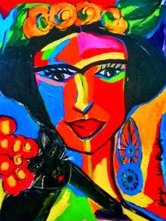 Dina Garcia: FRIDA E SEU GATO - 2015