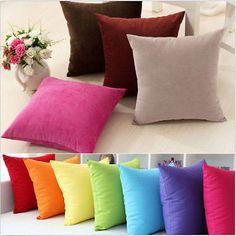 Home Decoration Suede Nap Throw Pillow Case Cushion Cover Square Sofa Decor Uk
