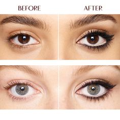 How to get Bigger and Brighter Eyes:  Products used are The Retoucher pen, Eye Cheat Rock n' Kohl eyeliner, Magic Cream, Full Fat Lashes Mascara - all by Charlotte Tilbury.
