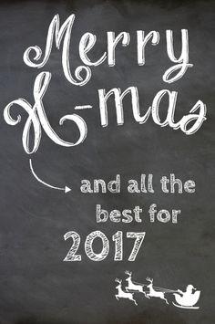Hippe staande kerstbord met chalkboard achtergrond. De kaart is geheel naar eigen wens aan te passen.