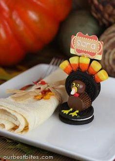 Thanksgiving Recipes : Oreo Turkeys and Cookie Pilgrim Hats